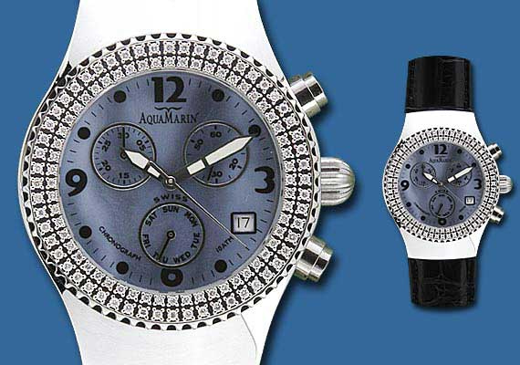 aquamarin sea star watch with leatherdiamonds online